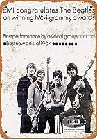 なまけ者雑貨屋 Beatles Grammy Award Congratulations ブリキ看板 壁飾り レトロなデザインボード ポストカード サインプレート 【40×30cm】