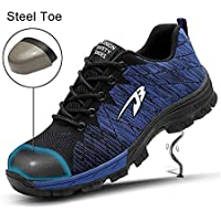 Safety Shoes, Steel Toe Cap Trainers Lightweight Mens Womens Safety Shoes Work Midsole Protection,9.5