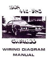 1968年オールズモビル442Cutlass f-85電気配線図回路図手動