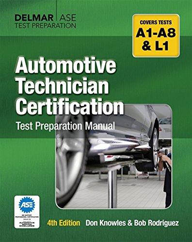 Download Automotive Technician Certification Test Preparation Manual 1428321012