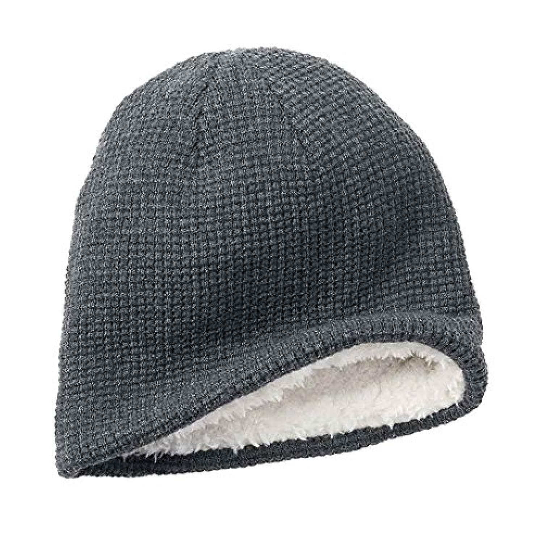 Urbanパイプラインメンズソリッドニットビーニー帽子ホワイトFauxファーOneサイズ