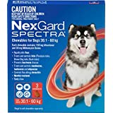 Nexgard, Flea, Tick & Worming Monthly Chew, Spectra, Dog, 30.1-60kg, 3pk