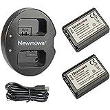 Newmowa NP-FW50 互換バッテリー 2個 + 充電器 セットSony FW50 and Sony Alpha a3000, Alpha a5000, Alpha a6000,a6300,Alpha 7, a7, Alpha 7R, a7R, Alpha 7S, a7S, NEX-3, NEX-3N, NEX-5, NEX-5N, NEX-5R, NEX-5T, NEX-6, NEX-7, NEX-C3, NEX-F3, SLT-A33, SLT-A35, SLT-A37, SLT-A55V, Cyber-shot DSC-RX10