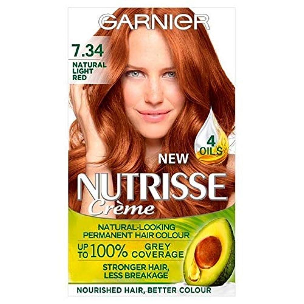 期待する最後のキャリア[Garnier ] 7.34光の自然な赤ガルニエNutrisseパーマネントヘアダイ - Garnier Nutrisse Permanent Hair Dye Light Natural Red 7.34 [並行輸入品]
