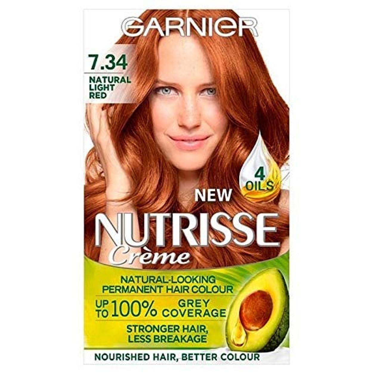 薄暗いダイエット放つ[Garnier ] 7.34光の自然な赤ガルニエNutrisseパーマネントヘアダイ - Garnier Nutrisse Permanent Hair Dye Light Natural Red 7.34 [並行輸入品]