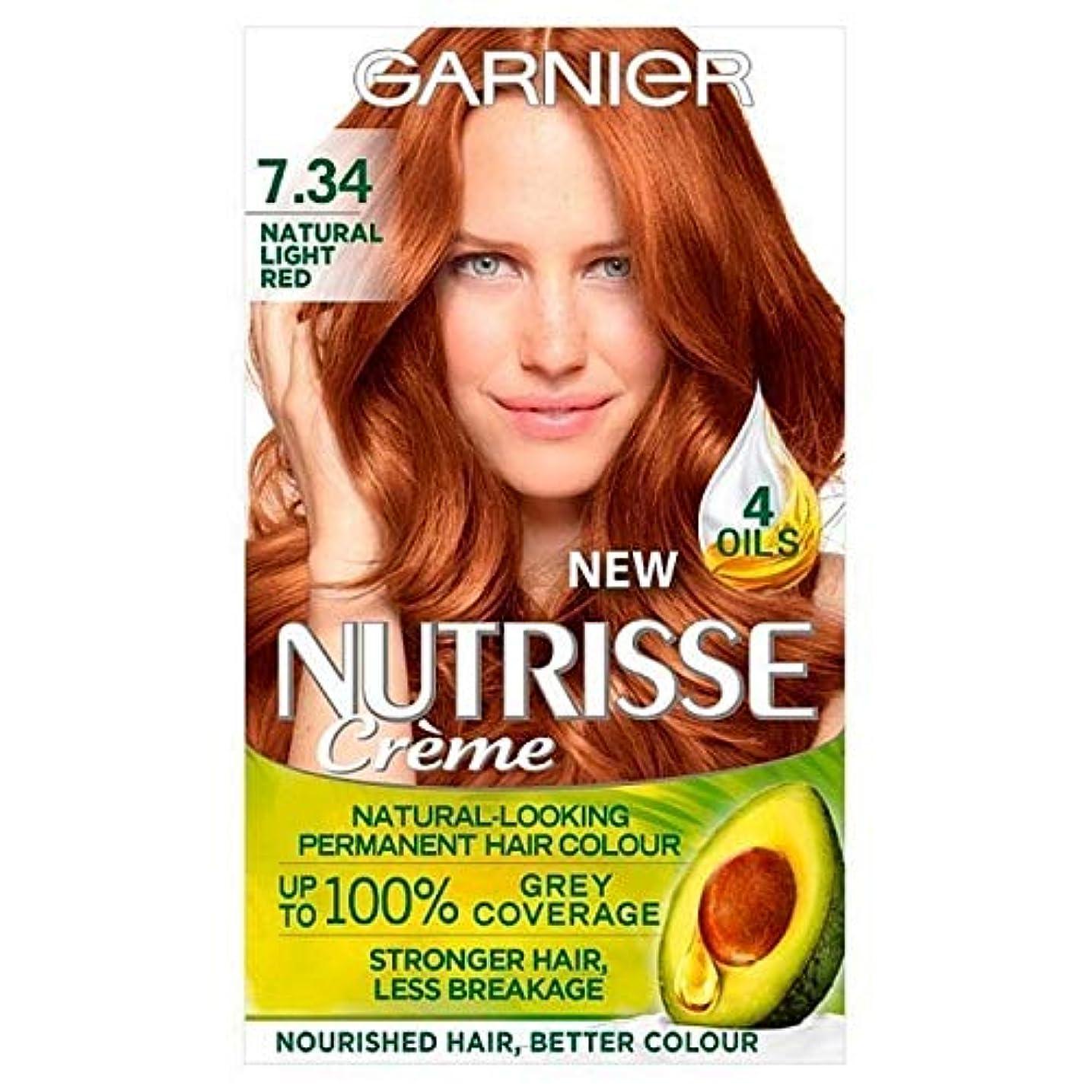 保証する首相系譜[Garnier ] 7.34光の自然な赤ガルニエNutrisseパーマネントヘアダイ - Garnier Nutrisse Permanent Hair Dye Light Natural Red 7.34 [並行輸入品]