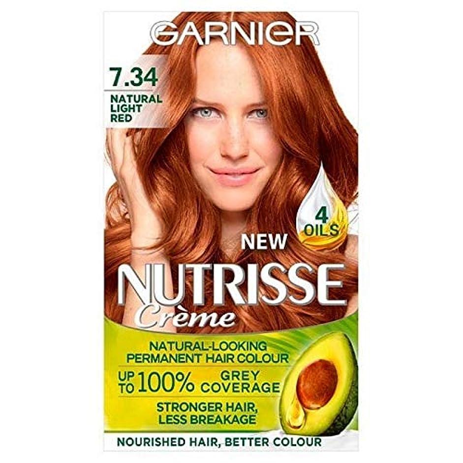 居眠りする注釈ランチ[Garnier ] 7.34光の自然な赤ガルニエNutrisseパーマネントヘアダイ - Garnier Nutrisse Permanent Hair Dye Light Natural Red 7.34 [並行輸入品]
