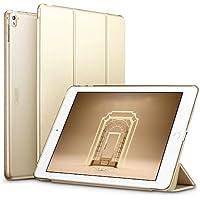 iPad Pro 9.7 ケース クリア ESR iPad Pro 9.7 カバー レザー PU スタンド機能 スリム傷つけ防止 オートスリープ ハード 三つ折タイプ iPad Pro 9.7 インチ スマートカバー (ゴールド)