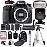 Canon EOS 80D Digital SLR Camera Bundle (Body Only) with Professional Accessory Bundle (15 items) [並行輸入品]