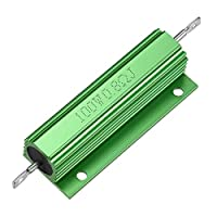 uxcell アルミニウムハウジング抵抗器 100ワット 0.8オーム LED PCB用抵抗器 グリーン 1個入り