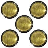 ベルアート メタルボタン (ABS) 18mm 5個入 Col.BG アンティーク ゴールド AZMT-0702