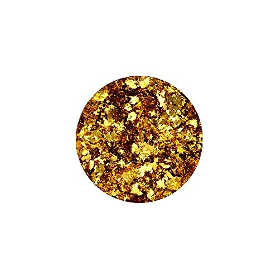 周辺モーテル傾向がある乱切りパウダーホイル 【ゴールド】金箔 ホイル