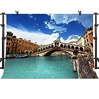 Mme 10x 7ft Venice市写真背景アーチブリッジBackdropイタリアランドマーク写真ビデオスタジオ小道具nanme238