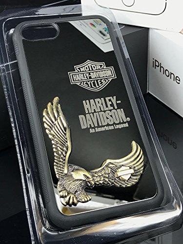 iPhone7/7 Plus専用 HARLEY DAVIDSON ハーレー ダビッドソン高品質 合金ラバーケース ファッションケース iPhone7 ミラーブラック [並行輸入品]