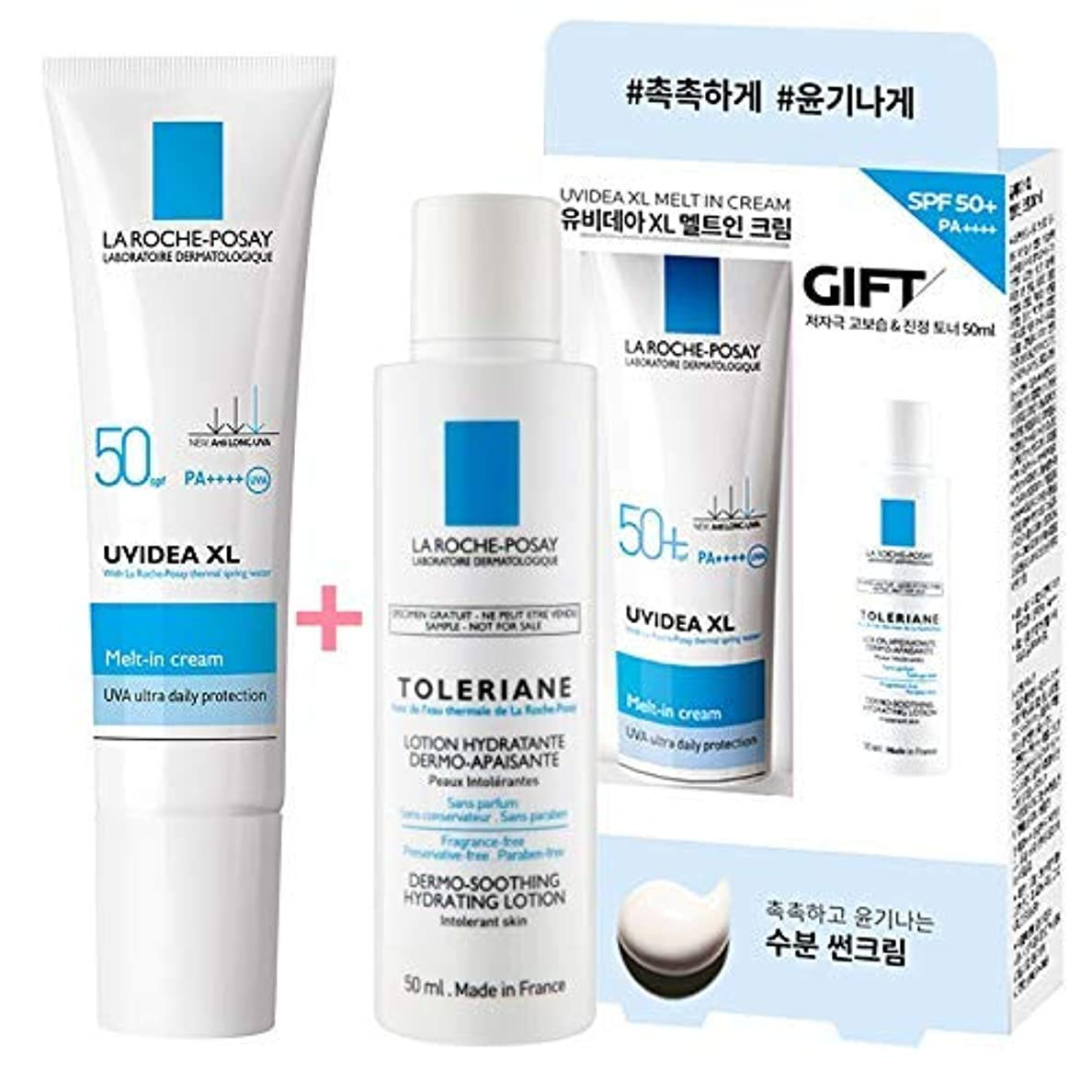 ソーシャル根絶するぜいたくLa Roche-Posay ラロッシュポゼ UVイデア XL Melt-In クリーム Uvidea XL Melt-In Cream - Natural (30ml) SPF50+ PA++++ (ギフト: LOTION...