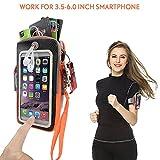 Best iPhone 5アームバンド - Kainnt 通気スポーツアームバンド フィルムをタッチ操作可能 多機能ポケット付き ランニング ジョギング ウオーキング ハイキング ワーク フィットネス用iPhone 、SONY、Huawei、Samsung、 AQUOS、DOCOMOとNexusなど6インチまでのスマホに対応 Review