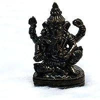 ネパール産 経典入り本格仕様【ガネーシャ】座像 四腕の聖天 25mm