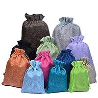 1Pc ショッピングバッグカラフルな模造リネン収納パッケージバッグ巾着袋小コイン財布トラベル女性の布バッグギフトポーチ