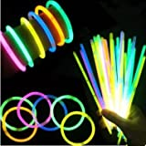 光る蛍光ブレスレット 8色 200本セット 蛍光 ペンライト (8色200本セット)