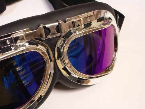 In goggles Harley / drag racing will type / cosplay props (lens-color Rainbow)