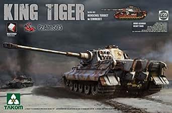 TAKOM 1/35 ドイツ軍重戦車 キングタイガー ヘンシェル砲塔 第505重戦車大隊スペシャルバージョン インテリア/ツィンメリット付 プラモデル TKO2047