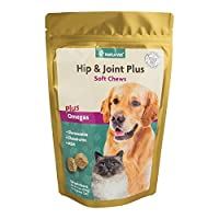 NaturVet HIP AND JOINT PLUS soft chews for Dogs Cats Pets Hip and Joint 120 ct