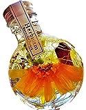 【Amazon.co.jp 限定】ハーバリウム プリザーブドフラワーLira 高さ9.5cm ギフトボックス入り 丸瓶 (ガーベラオレンジ)