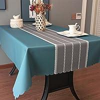 テーブルクロス 食卓カバー テーブルマット 耐熱 防水 防油 撥水加工 シンプル PVC製 おしゃれ テーブルフラグ ストライプ 縞 現代 長方形 正方形 キッチン用品 130*180cm