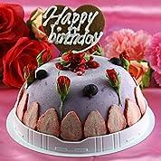 【お誕生日ギフトアイスケーキ】 花とトリプルベリーのタルトアイスケーキ