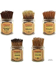 Wildberry Short Incense Sticks – Set of 5 Best Selling Fragrances – Dragon 's Blood、Nirvana、パチュリ、Voodoo、ウィザード(...