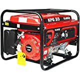KULLER 3500w Max/3100w Rated Petrol Home Backup Power Generator Single-Phase