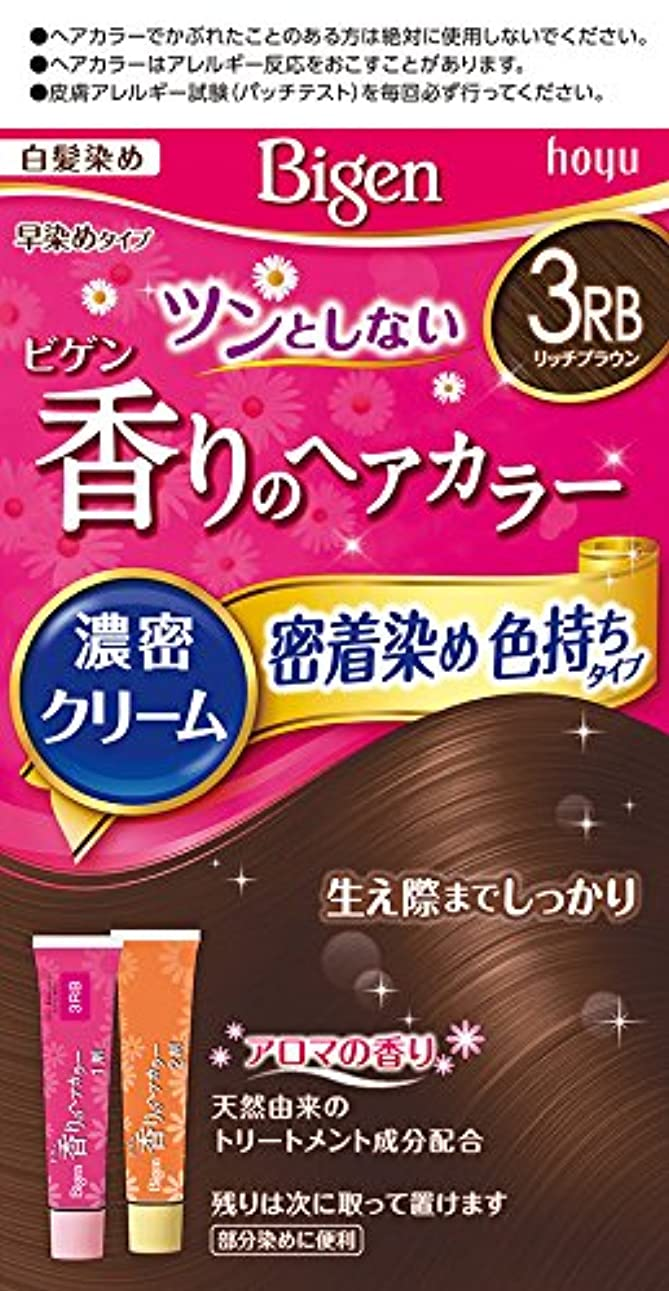 デコレーション整理する本部ビゲン香りのヘアカラークリーム3RB (リッチブラウン) 40g+40g ホーユー