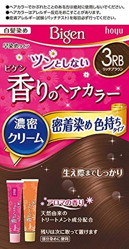 信者秘書セメントビゲン香りのヘアカラークリーム3RB (リッチブラウン) 40g+40g ホーユー
