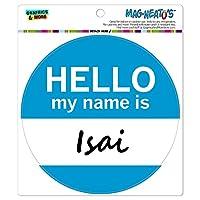 それこんにちは、私の名前は - サークル MAG-格好いい'S(TM)カー/冷蔵庫マグネット