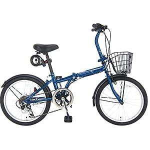 JEFFERYS(ジェフリーズ) 折りたたみ自転車 20インチ AMADEUS FDB206 シマノ6段変速 前後泥除け/カゴ/LEDライト/ワイヤーロック標準装備 JP8694