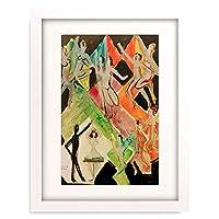 エルンスト・ルートヴィヒ・キルヒナー Ernst Ludwig Kirchner 「Enwurf zum Wandbild 'Farbentanz'」 額装アート作品