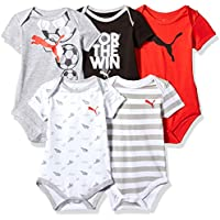 af32e2c80117 PUMA Baby-Boys 01186078-P603 Baby Boys Five Pack Bodysuit Set Short Sleeve  Bloomers