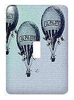 3drose LSP _ 179064_ 1Vintage Hot Air Balloons–Single切り替えスイッチ