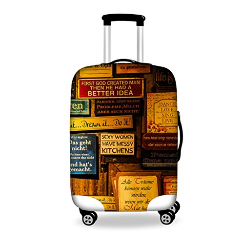 [FOR U DESIGNS(JP)] スーツケースカバー 伸縮素材 保護カバー Lサイズ