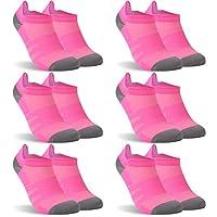 diwollsam Athletic Running Socks for Women、吸湿ドライフィットローカットタブスポーツソックス One Size ピンク