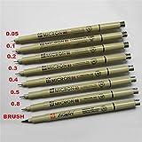 8 x サクラ Pigma ミクロンのラインペン芸術の供給 005 01 02 03 04 05 08 ブラシ WB 。: wonderfulbuying 36588 # 41760 HUGTY