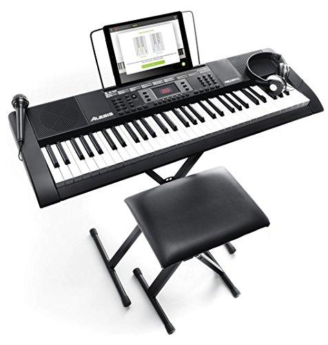 Alesis 電子キーボード 61鍵盤 初心者セット 【ヘッドホン、マイク、スタンド、ベンチ、ACアダプター付き】 Melody61 MKII