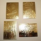 Set of 4 - STAR WARS 23KT Gold Cards DARTH VADER / SHADOWS / FALCON / BOUNTY