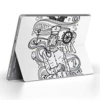 Surface go 専用スキンシール サーフェス go ノートブック ノートパソコン カバー ケース フィルム ステッカー アクセサリー 保護 海 船 人 014811