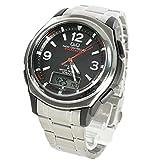 CITIZEN シチズン Q&Q 腕時計 アナデジ 5局電波ソーラー MD04-205 ブラック