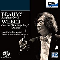 ブラームス:交響曲第2番、ウェーバー:「魔弾の射手」序曲、「オベロン」序曲