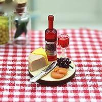 hamulekfae-かわいいミニ樹脂ワインボトルカップケーキ料理子供ドールハウスミニチュアの装飾玩具小さい世界