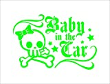 Amazon.co.jpリボン スケルトン Baby in car 緑 カッティングステッカー ウォールステッカー