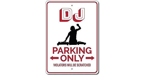 Disc Jockey Sign ENSA1002775 DJ Parking Sign DJ Gift for DJ Sign