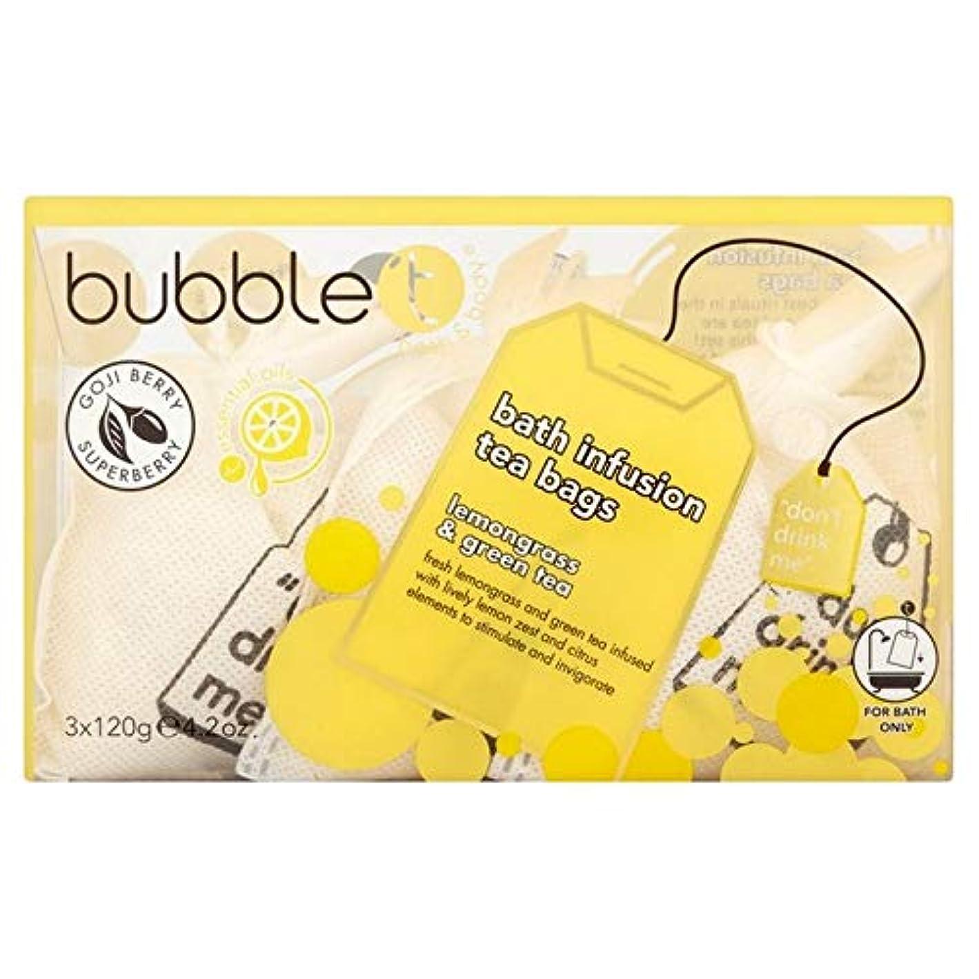 禁止染色研究[BUBBLE T] バブルトンのレモングラス&緑茶風呂輸液トンバッグ - Bubble T Lemongrass & Green Tea Bath Infusion T-Bags [並行輸入品]